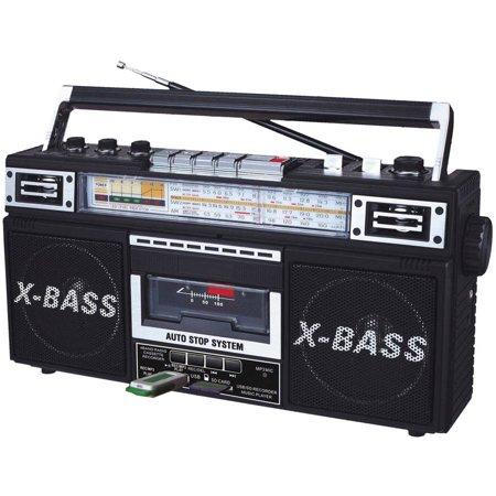 Qfx Retro Collection Boom Box  Black