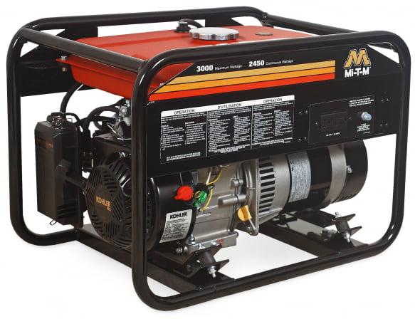 Mi-T-M GEN-3000-1MK0 Gasoline Generator, 208cc Kohler CH270OHV motor, 3000 watts, 2.6 gallon tank by Mi-T-M