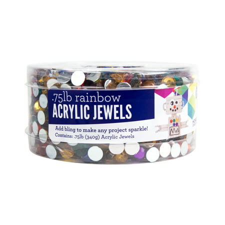 - Horizon Group USA 0.75 Lb. Rainbow Acrylic Jewels Tub, 1 Each