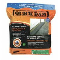 "QUICK DAM Water Act Flood Barrier,3-1/2""Hx10ftL QD610-1ES"