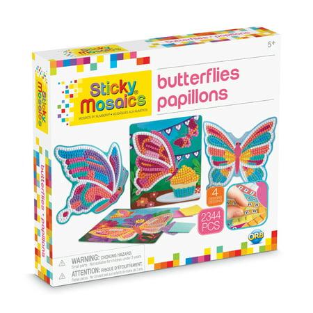 The Orb Factory Sticky Mosaics Butterflies Kit