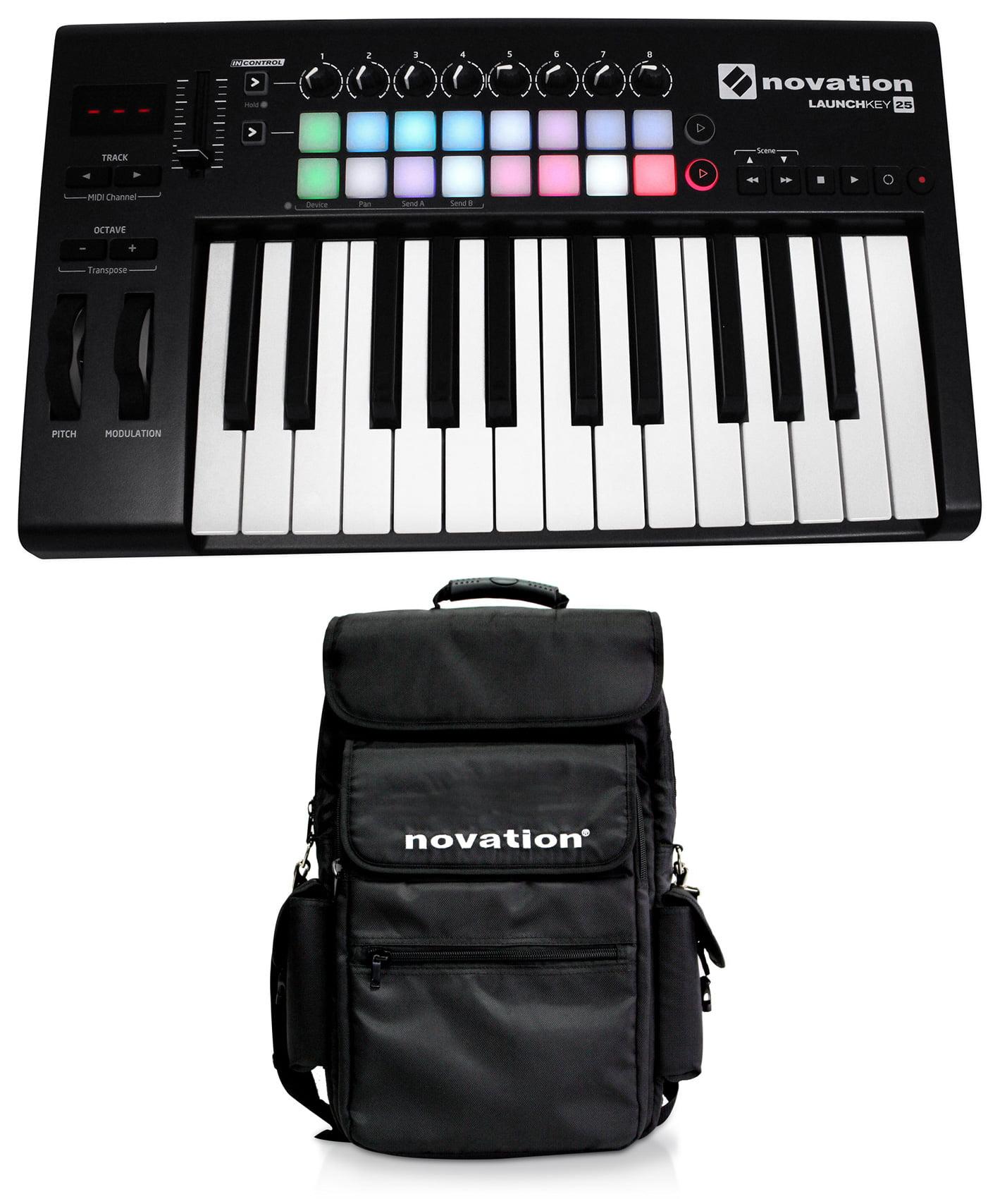 Novation LAUNCHKEY-25-MK2 25-Key USB MIDI Ableton Keyboard Controller+Carry Bag by NOVATION