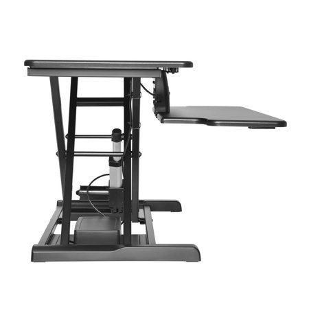 PrimeCables Electric Height Adjustable Standing Desk, Power Motor Button Touch Sit to Stand Desk Riser Fits Single/Dual Monitor - image 3 of 7