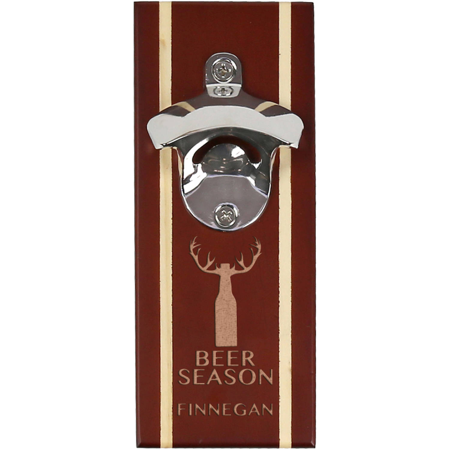Beer Season Custom Walnut Magnetic Bottle Opener