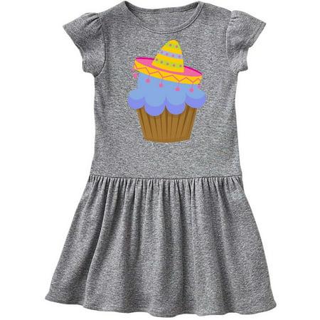 99d7d853ae1 Inktastic - Fiesta Cupcake Cinco de Mayo Sombrero Toddler Dress ...