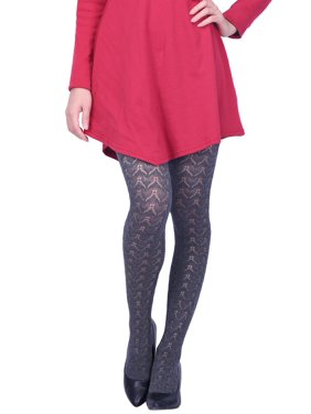 f2be7df6d16 Product Image HDE Women s Winter Tights Hollow Out Knitted Pattern Cotton  Blend Stockings (Black)