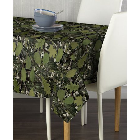 Natural Camo Green Tablecloth 60