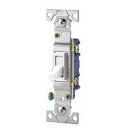 Cooper Wiring 1208610 1-Pole White Lighted Toggle Switch