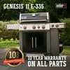 Weber Genesis II E-335 LP Gas Grill, Black
