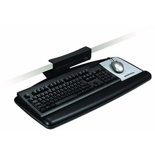3M Knob-Adjust Keyboard Tray with Standard Platform