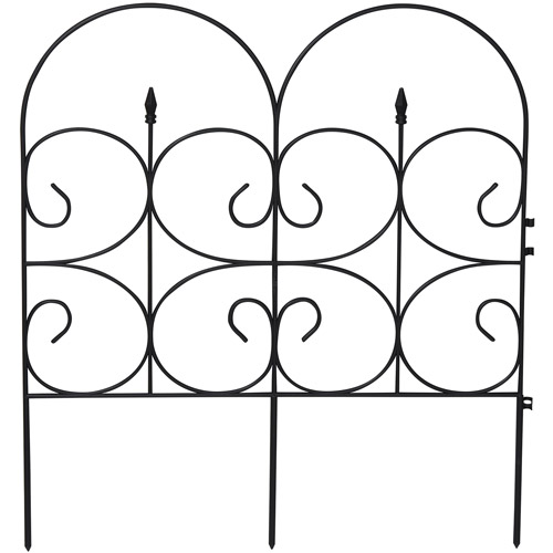 "Emsco Group 2103HD 14' Victorian Fencing (32.4"" X 28.3""),Wrought Iron Look - Poly Fence, 6 PCS"