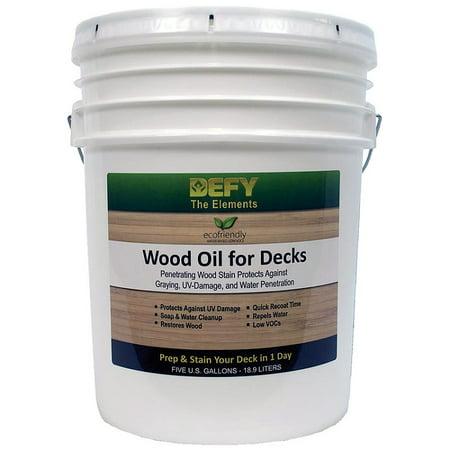 DEFY Wood Oil for Decks 5-gallon clear tone