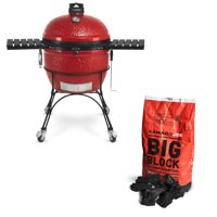 Kamado Joe Outdoor Ceramic Charcoal Grill and Premium Lump Charcoal, 20 Pounds