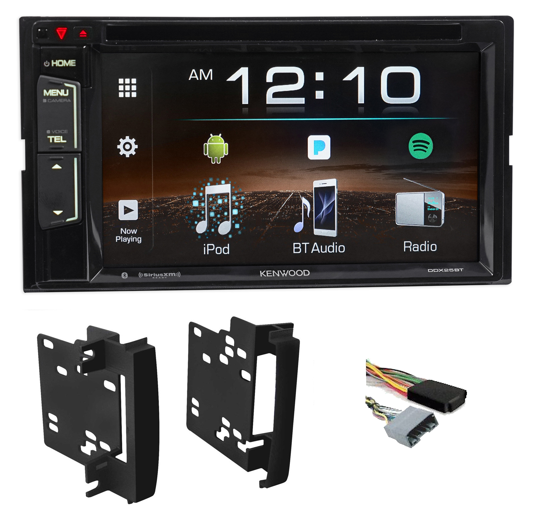 2007-2009 Jeep Wrangler Kenwood Car DVD iPhone Bluetooth Pandora USB Receiver by Kenwood