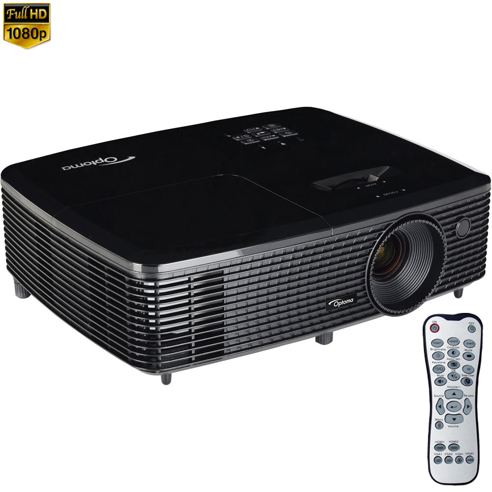 Optoma HD142X Full HD 1080P 3D DLP Home Theater Projector...