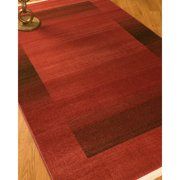 Natural Area Rugs Power Loomed Bahama Red/Black Area Rug