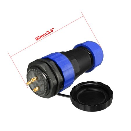 Aviation Connector, 28.5mm 3P 45A 380V SD28-3 Waterproof Male Wire Panel Power - image 1 de 8