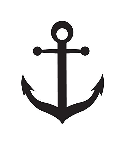 Anchor Stencil by StudioR12 | Nautical Boat Art - Mini 3 x 3.5-inch on kitchen flooring ideas, small galley kitchen design ideas, kitchen floor makeovers, kitchen area rugs, kitchen painted floor stencil, kitchen floor tile, stained concrete floor ideas,