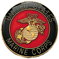 US MARINE CORPS Pin-On Insignia with USMC Emblem