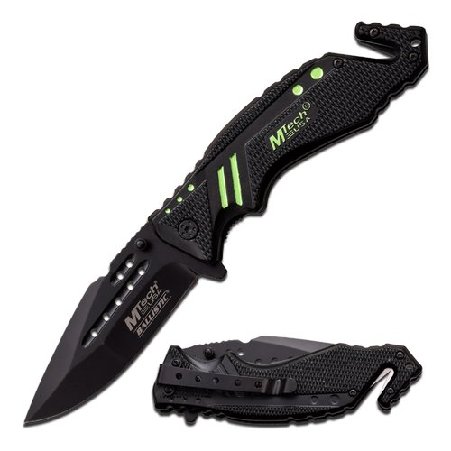 "MTech USA Spring-Assisted Knife, 4.75"" with 3.35"" Black Blade"