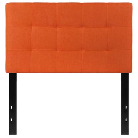 Flash Furniture Bedford Tufted Upholstered Twin Size Headboard in Orange Fabric Bedford Bedroom Furniture Set