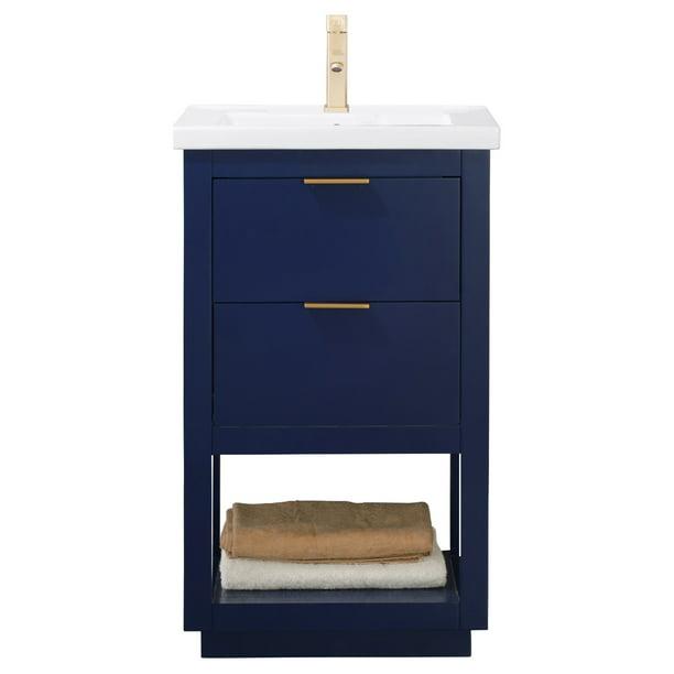 Design Element Klein 20 Single Sink Bathroom Vanity In Blue Walmart Com Walmart Com