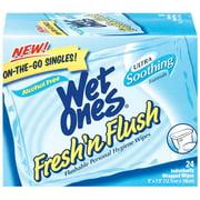 Wet Ones: Fresh N Flush Singles, 24 ct