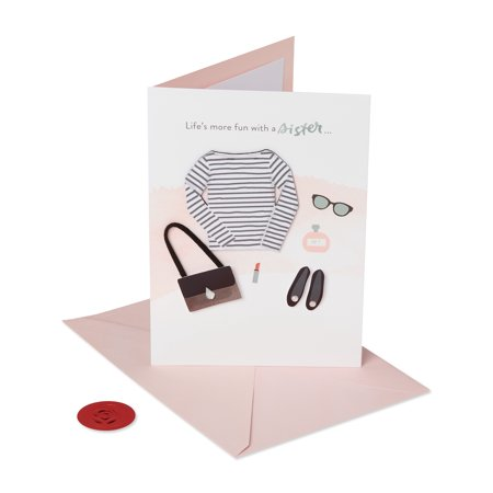 American Greetings Premier Fashionable Birthday Greeting Card for Sister with
