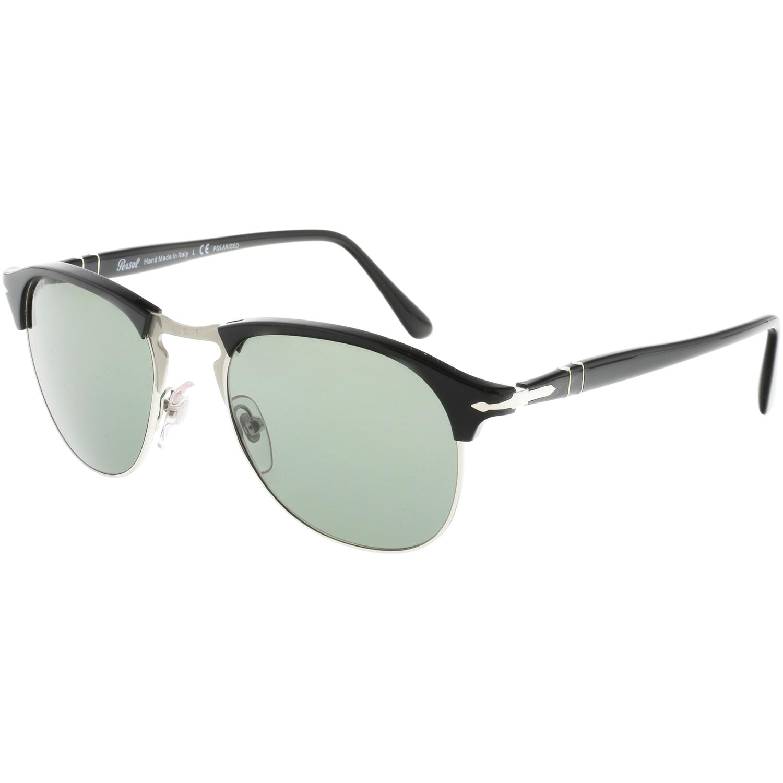 cc155b368f2 Persol Men s Polarized PO8649S-95 58-53 Black Oval Sunglasses