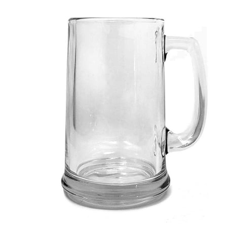 Large 15 oz. Beer Glass Mug With Handle, Clear 1l Macho Beer Mug