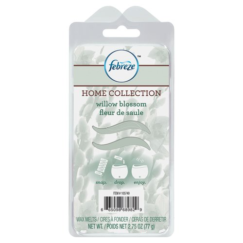 Febreze Home Collection Wax Melts, Willow Blossom, 6 Pack