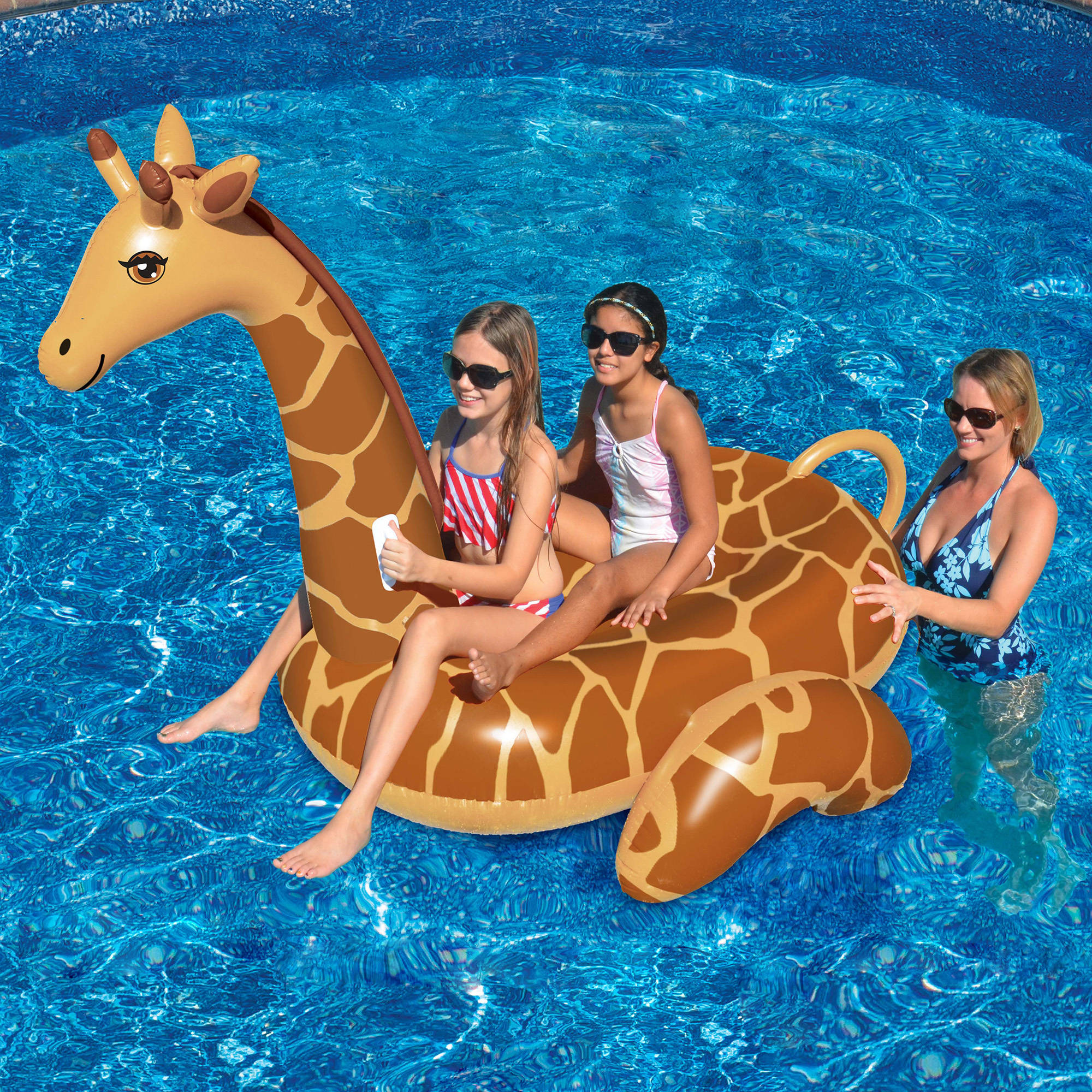 Giant Giraffe 96-in Inflatable Ride-On Pool Toy by INTERNATIONAL LEISURE PRODUCTS