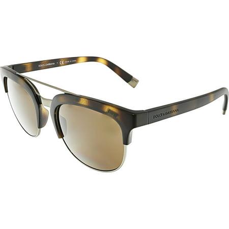 Dolce & Gabbana Women's DG6103-302873-55 Brown Oval (Dolce And Gabbana Mirror Sunglasses)