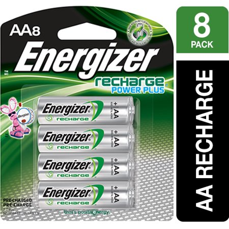 Energizer Recharge Power Plus Rechargeable AA Batteries, 8 Pack