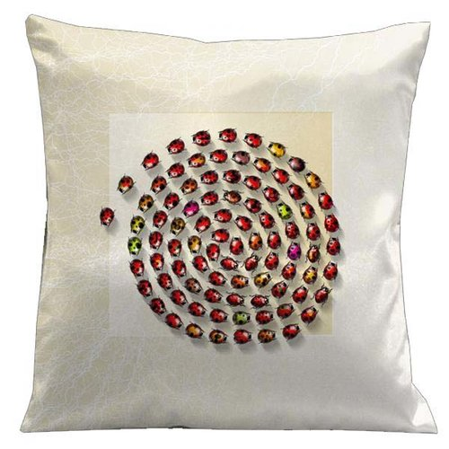 Lama Kasso Botanic Ladybugs Microsuede Throw Pillow