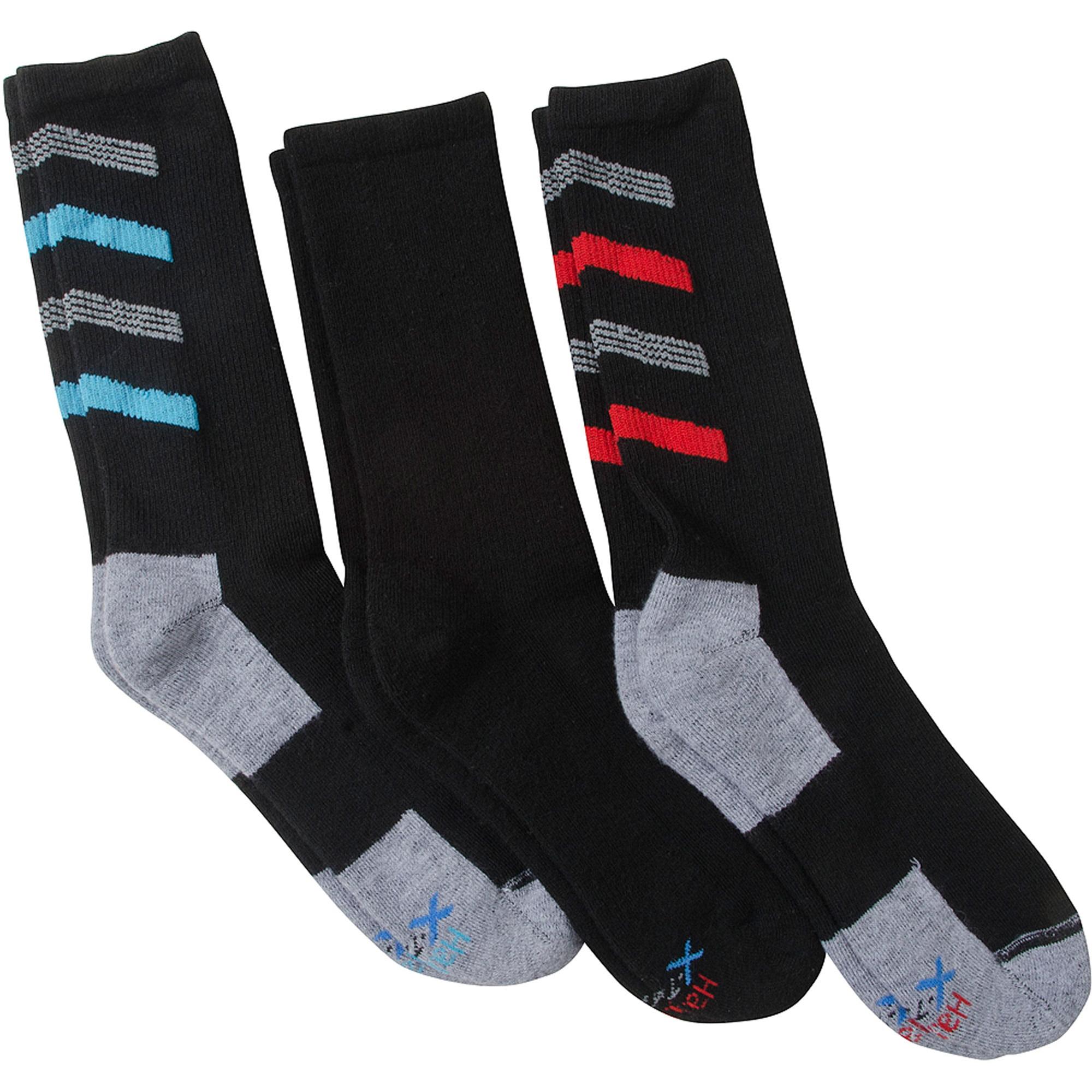 Hanes X-Temp Big & Tall Crew Socks, 3 Pack
