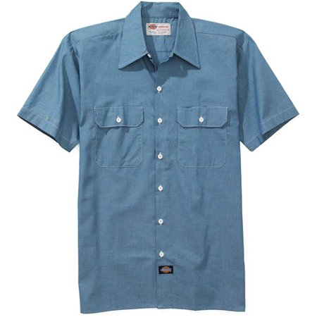 Dickies big men 39 s short sleeve chambray shirt for Cuisine you chambray