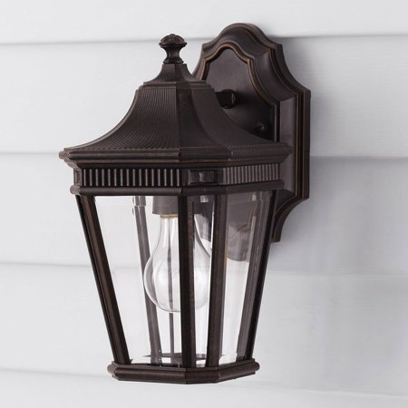 Collection Grecian Bronze Flush (Feiss Cotswold Lane Outdoor Wall Lantern - 11.5H in. Grecian)