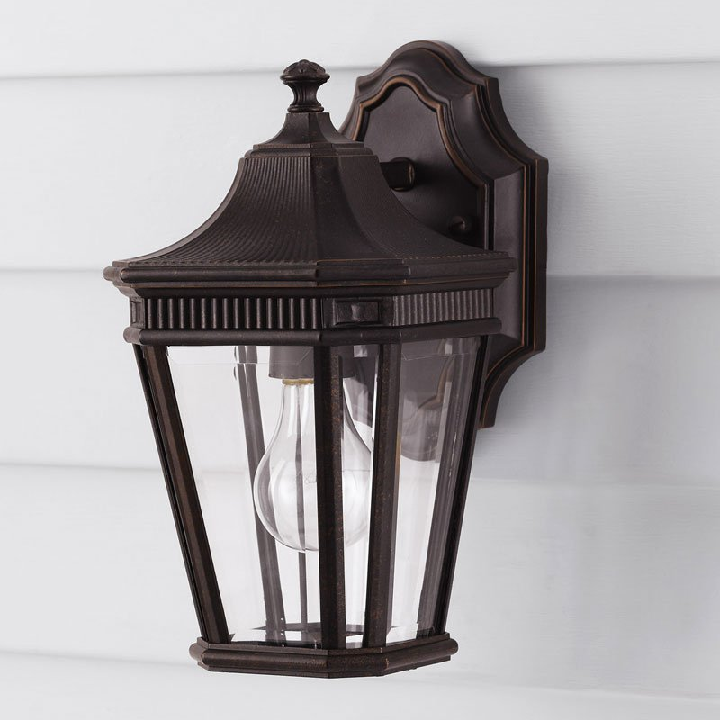 Feiss Cotswold Lane Outdoor Wall Lantern - 11.5H in. Grecian Bronze