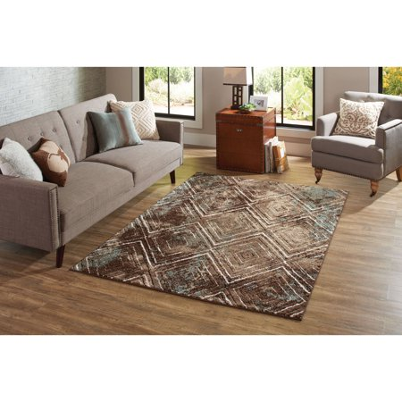 Better Homes and Garden Brown Diamond Polypropylene and Polyester Pile
