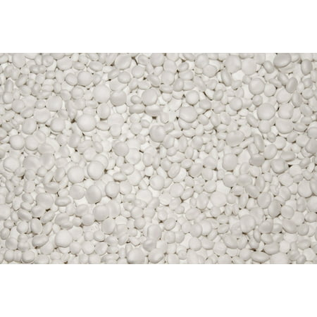 Canvas Print Pellets Polystyrene Building Material White Stretched Canvas 10 x 14
