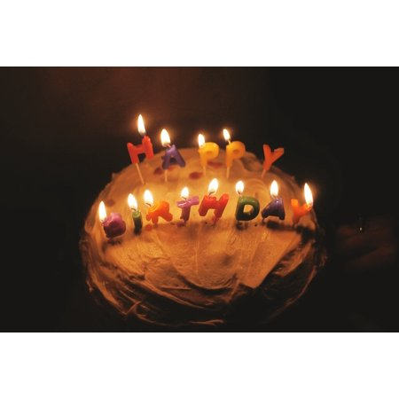 LAMINATED POSTER Birthday Party Cake Candles Poster Print 24 X 36