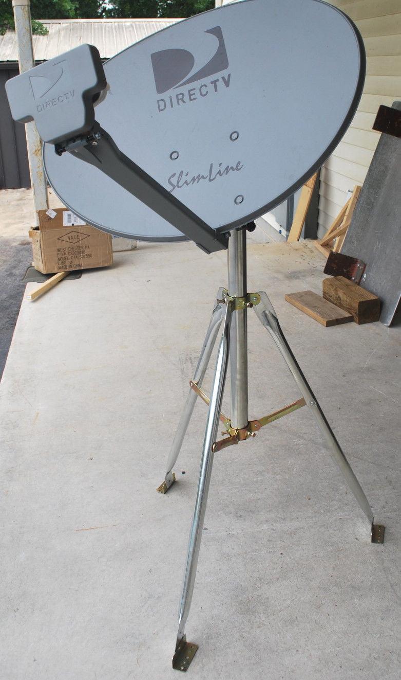 "DIRECTV 3LNB SLIMLINE DISH KAKU SL3 SWM & POWER HD RV 3"" TRIPOD TAILGATING KIT by DirecTV"