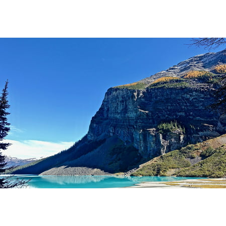 LAMINATED POSTER Cliff Face Glacier Canada Lake Louise Mountain Poster Print 24 x 36 North Face Glacier Track