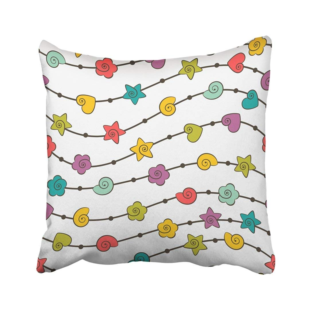 BPBOP Colorful Kid With Color Shapes 10 Green Flower Simple Abstract Baby Birthday Bright Pillowcase Throw Pillow Cover 18x18 inches