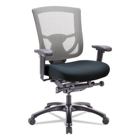 Tempur-Pedic by Raynor 600 Mesh-Back Multifunction Chair, Black Fabric Seat/Slate Mesh