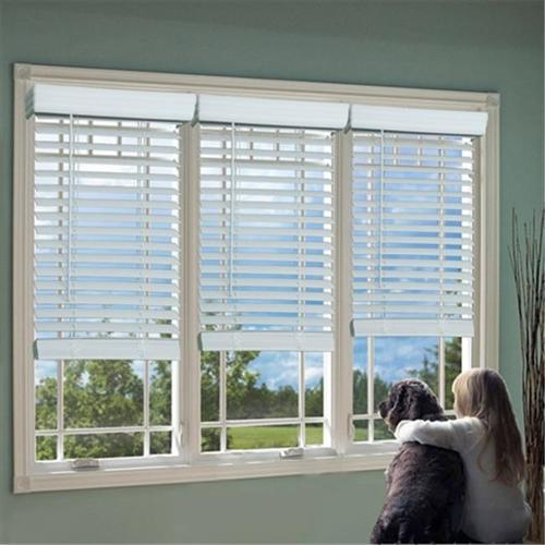 DEZ QJWT324640 2 in. Cordless Faux Wood Blind, White - 32...