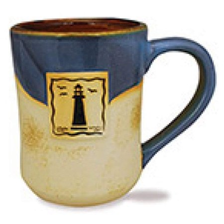 Cape Shore 16 Ounce Stoneware Partial Glaze Pottery Mug (Lighthouse)