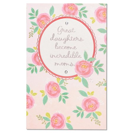 American Greetings Great Mom Mother's Day Card for Daughter with Rhinestones (Pink And Her Daughter Halloween)