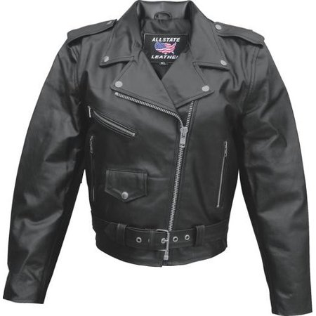 Ladies Medium Size basic motorcycle Split Cowhide 3 front zippered 1 snap pockets Biker Jacket With Silver (Best Quality Motorcycle Jackets)